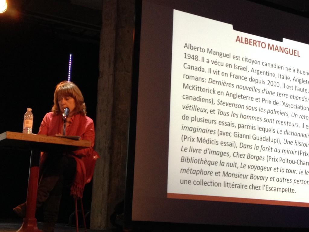 Marie-Andrée Lamontagne présente Alberto Manguel