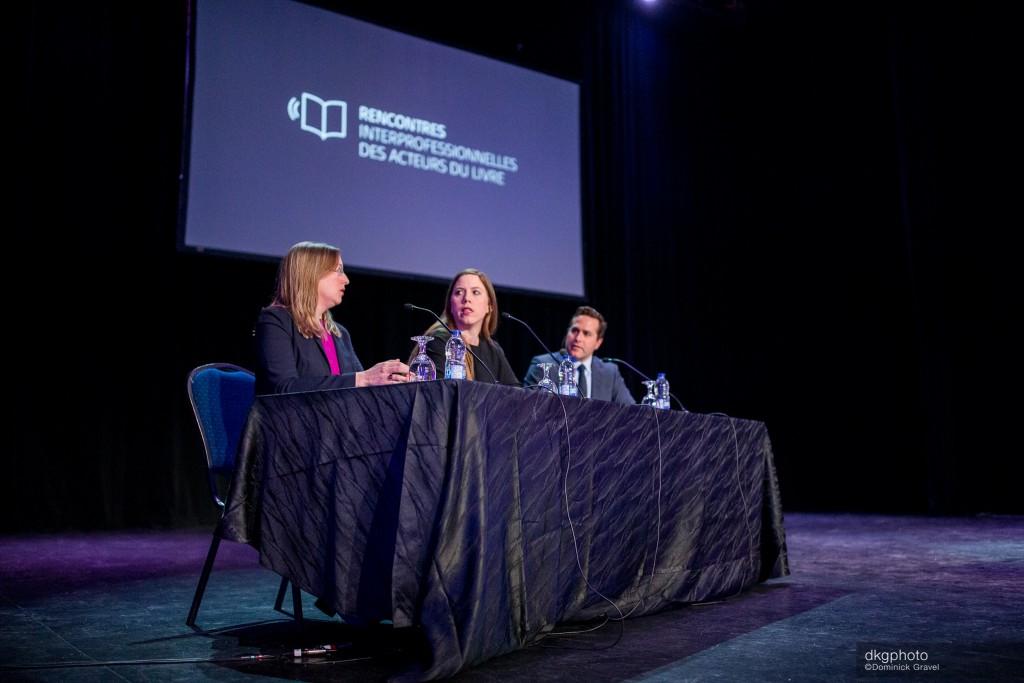 Jessica Saenger et Kristina Kramer du Börsenverein des Deutschen Buchhandels – l'association des libraires, des éditeurs et des distributeurs en Allemagne