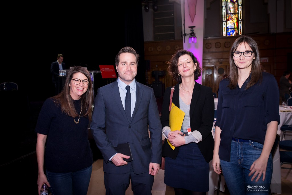 Judikaela Auffrédou, l'animateur Jean-Philippe Cipriani, Stéphanie Vecchione et Gabrielle Madé